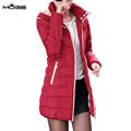 MOGE black long winter jacket women warm fashion winter coat doudoune femme jaqueta feminina casacos de