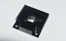 3d printer accessories 40x40x11mm aluminum radiator heatsink black oxidized extruder fan
