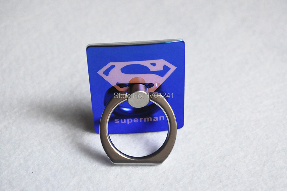 NEW Universal Ring Stands With Hook Orange Superman Pattern Magic Blu-ray Mobile Phone Ring Holder With Retail Box Hot Sale