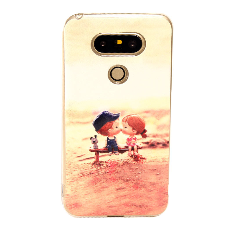 Fashion Colorful Painted Soft Silicone Cover for LG G5 Case Black Friday Cyber Monday Special Design Girl Use(China (Mainland))