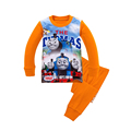 Easter Thomas Train Set Boys Autumn Clothing Set Kids Long Sleeve T Shirt Pants Pajamas Old