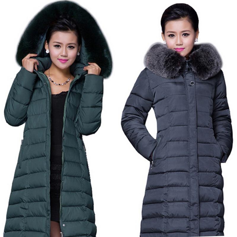 Winter Jacket Women 2015 Winter Coat Women Plus Size 5XL Long Parka Luxury Fur Cotton-Padded Down Coats Women Wadded Jackets