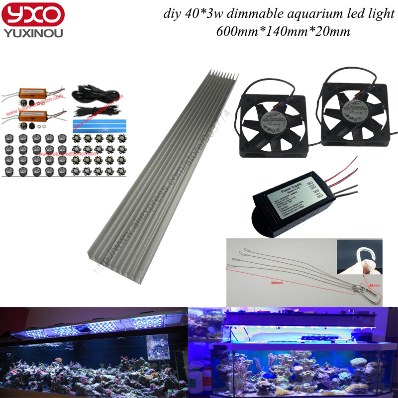 dimmable 120w diy aquarium led lights for coral reef growing for coral. Black Bedroom Furniture Sets. Home Design Ideas