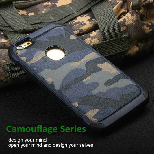 Shockproof Army Camo Camouflage Hard Plastic Back Cover with Soft TPU Inside Amor Phone Case for Apple iPhone 5 S 6 6S 6 Plus(China (Mainland))
