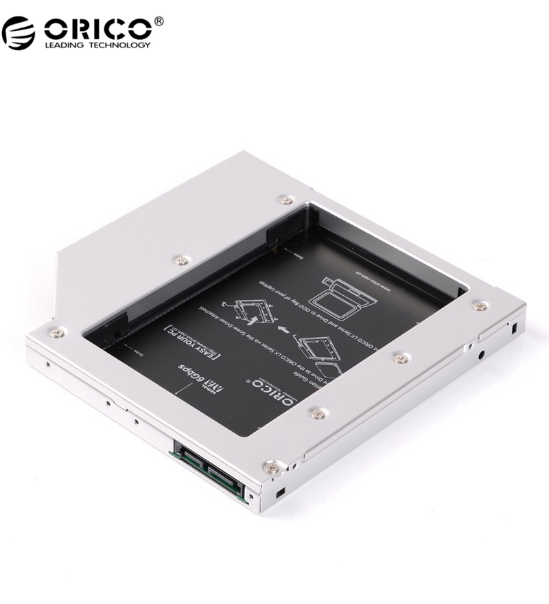 ORICO L127SS-V1 Laptop Aluminum SATA 3.0 Hard Drive or SSD Caddy Tray for 12.7mm CD/DVD-ROM Fit 7,9.5 ~12.5mm Drive(China (Mainland))