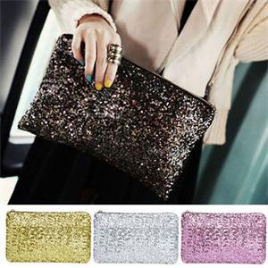2014 New Shiny Sequins Women Day Clutches/Blingbling Evening Party Handbags for Women/Fashion Zipper Bags Women (China (Mainland))