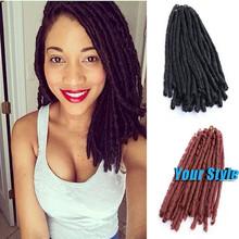 "14"" -15"" Synthetic Faux Locks Dreadlocks Hair Extension Black Bug 20 Strands/Pack 55g Havana Mambo Twist Crochet Braid Hair"