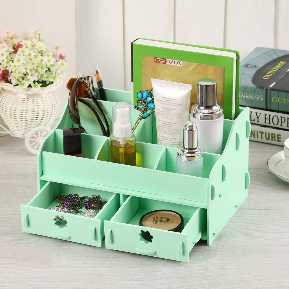 cozy colors wooden desk cosmetic makeup organizer diy wood. Black Bedroom Furniture Sets. Home Design Ideas