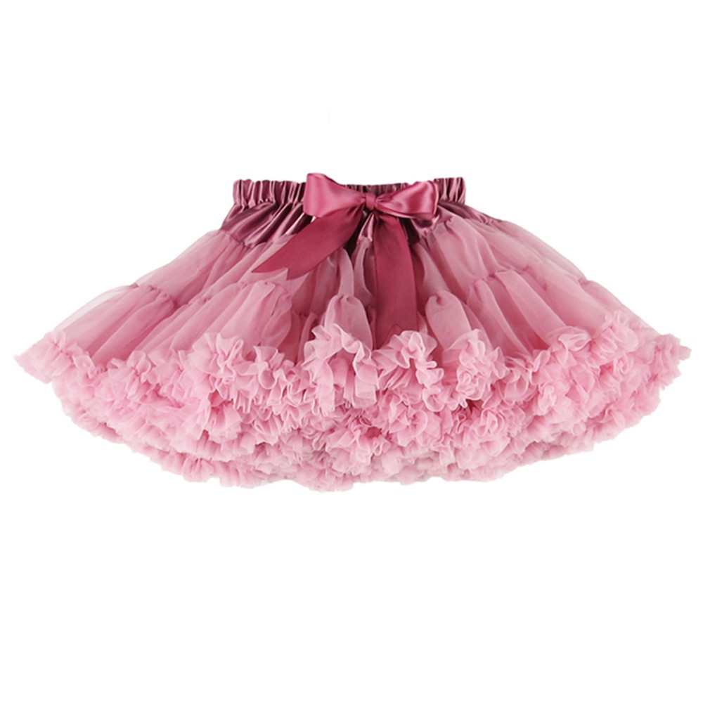 2-18 Years Fluffy Chiffon Skirt Pettiskirt Baby 14 Colors tutu skirts girls Princess Dance Party Tulle - Yiwu Superfashion E-commerce Business Firm store