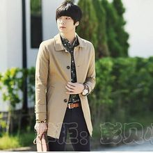 Free shipping 2015 new brand spring trench jacket, fashionable single breasted men's casual coat plus size s-xxxl(China (Mainland))