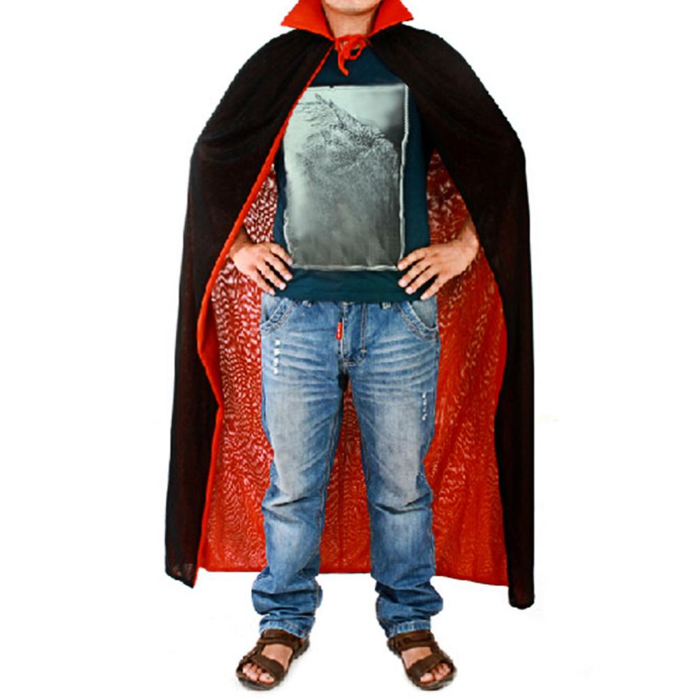 DRACULA VAMPIRE CAPE halloween fancy dress Black Cloak Costume