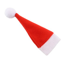 Red Santa Hat Christmas Spoon Fork Bags Tableware Silverware Holders Pocket Dinner Home Party Table Decor*Christmas items(China (Mainland))