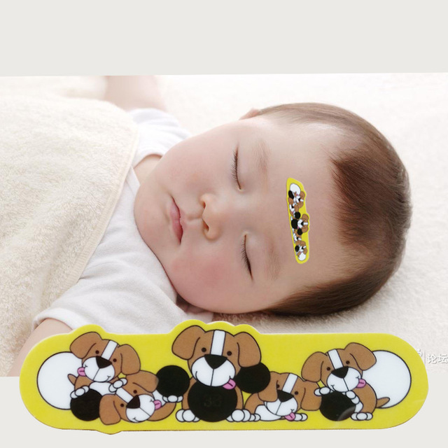 1 pcs Baby Cartoon Forehead LCD Thermometer Forehead Head Strip Thermometer Fever Body Baby Child Kid Test Temperature Worldwide(China (Mainland))
