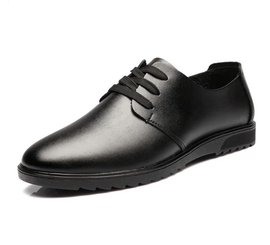 dress shoes genuine leather casual brand oxford mens