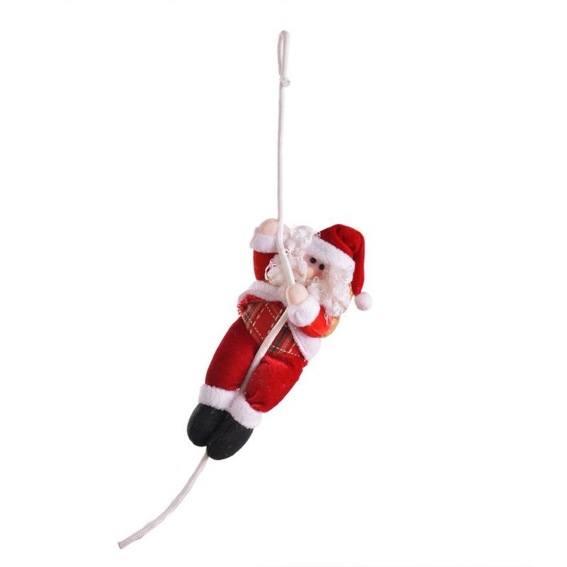 1PC Plush Christmas Santa Claus Rope Climbing Doll Christmas Tree Decoration Ornaments(China (Mainland))