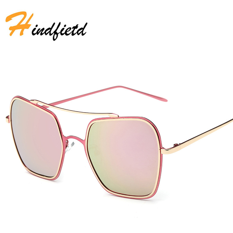 Gold Sunglasses Women High Quality Alloy Square Frame Fashion Mirror Polarized Retro Glasses Wrap UV400 Women New Sunglasses(China (Mainland))