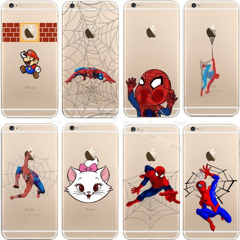 6/6S Cute Printing Hard Cover Apple IPhone 6 6S Case iPhone6S Spider-Man Phone Cases Logo Gasp Shell 2016 Newest Hot Top - Mobile Accessories/Case And Mp3 Store store