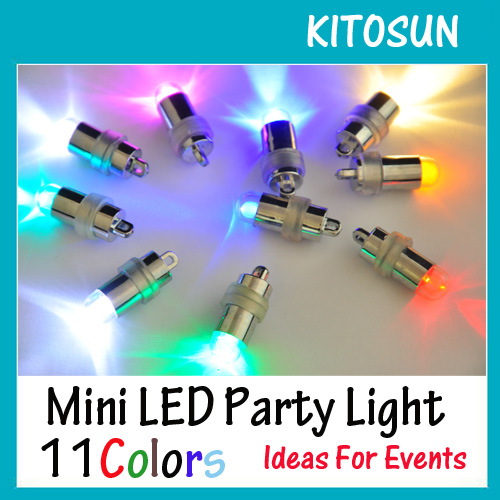 10 Pieces/Lot Free Shipping Battery Operated Colorful Micro Mini Led Christmas Lights For Swimming Pool Party Balloons Lighting(China (Mainland))