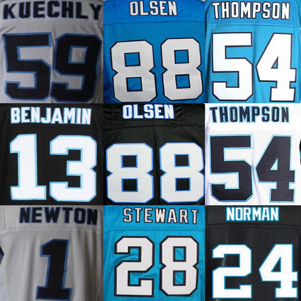 Cam Newton Jersey, Greg Olsen Jersey, Jonathan Stewart Kelvin Benjamin Luke Kuechly Shaq Thompson Jerseys(China (Mainland))