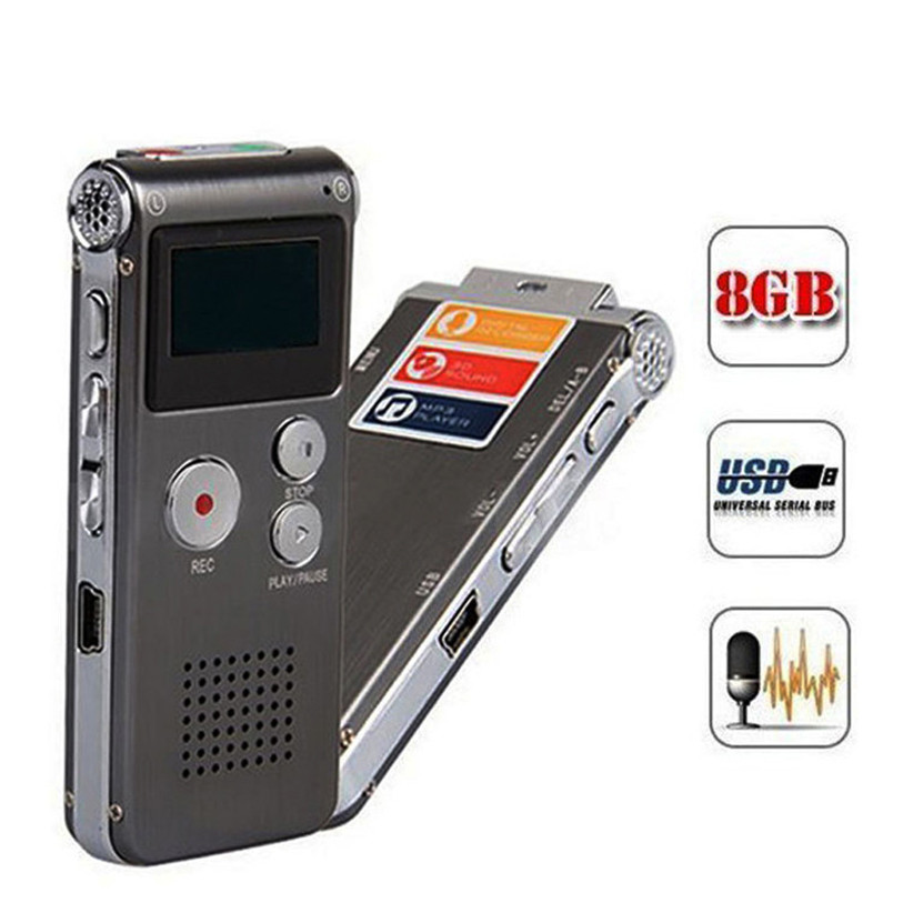 HL8GB Digital Audio Voice Recorder Rechargeable Dictaphone Telephone With Headphone Nov16