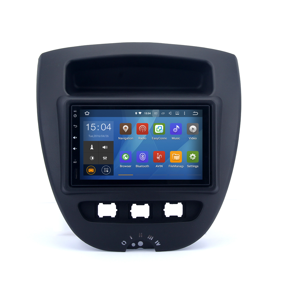 2 din car radio for toyota aygo 2005 android stereo navi. Black Bedroom Furniture Sets. Home Design Ideas