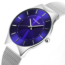 Buy Readeel Top Brand Mens Watches Luxury Quartz Casual Watch Men Stainless Steel Mesh Strap Ultra Thin Dial Clock relogio masculino for $13.99 in AliExpress store