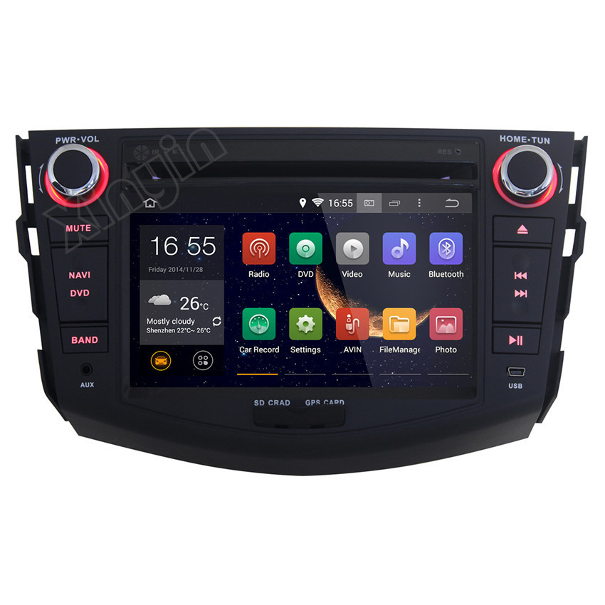 Pure android 4 2 car stereo dvd player cpu 1 6ghz ddr3 1gb memory 8gb - Pure Android 4 4 Toyota Rav4 2007 2008 2009 2010 2011 2012