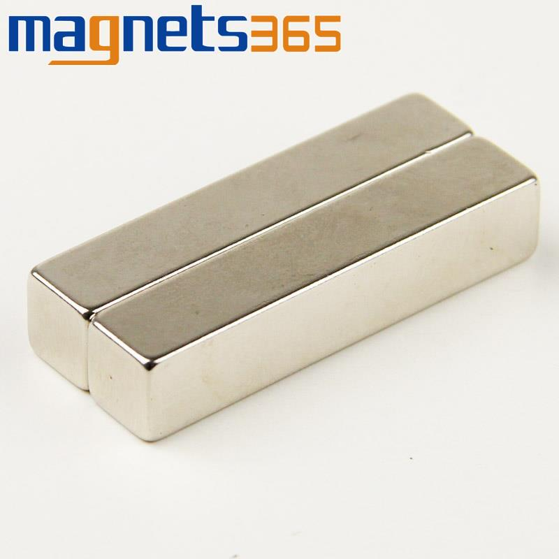 Гаджет  2pcs New Super Strong Neodymium Block Magnets 50mm x 10mm x 10mm N35 Grade Rare Earth None Строительство и Недвижимость