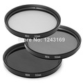 3PCS Neutral Density 52mm ND2 ND4 ND8 Filter Kit for Canon for Nikon D3100 D5100 D5500