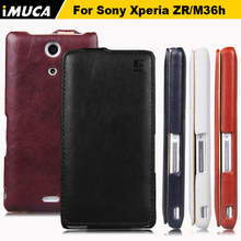 Buy Sony Xperia ZR zr M36h m36h cases covers IMUCA Vertical Flip PU leather Cases Sony Xperia ZR zr m36h C5502 C5503 bags cases for $5.96 in AliExpress store