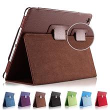 For Ipad Mini 1 2 3 Matte Litchi Soft PU Artificial Leather Case Magnetic Sleep /Wake UP Flip Cover For Ipad Mini case Retina(China (Mainland))