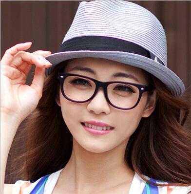 Quality Large Frame Eyewear Black Glasses Frame Women and Men Computer Glasses Anti Radiation Glasses(China (Mainland))