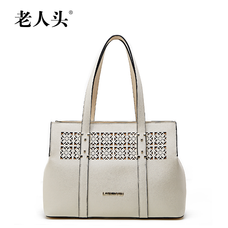 2016 New LAORENTOU brand genuine leather women bag fashion top quality fashion women handbags shoulder bag with hollow out(China (Mainland))
