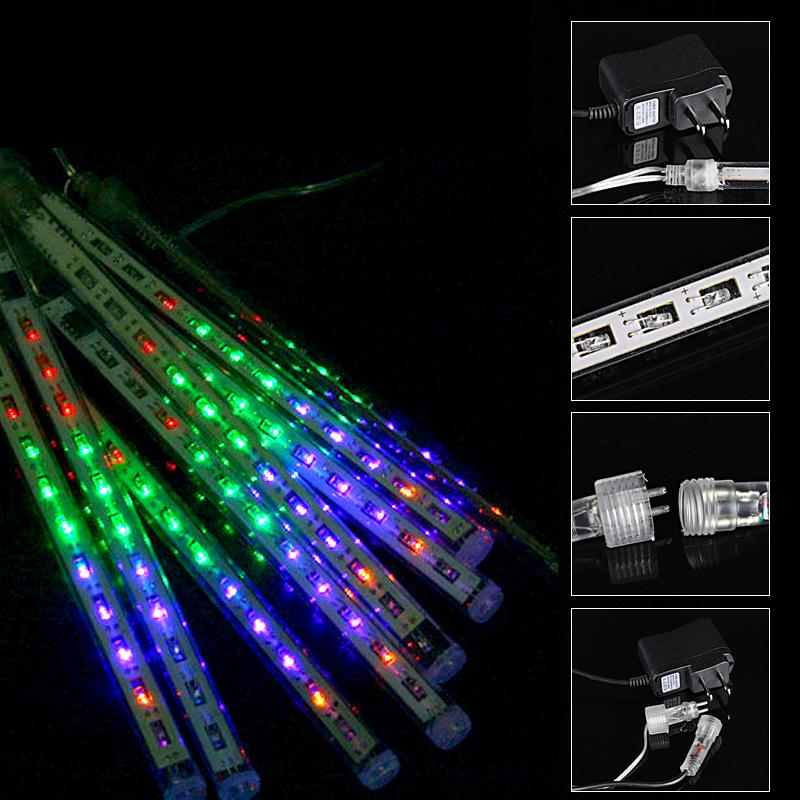 Aliexpress.com : Buy 8x30 cm Tube 144 LED RGB Multi color Meteor ...