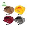 KIMHOME S M L 4 Colors Cute Winter Warm Mechanical Wash Soft Slippers Dog Bed Sofa