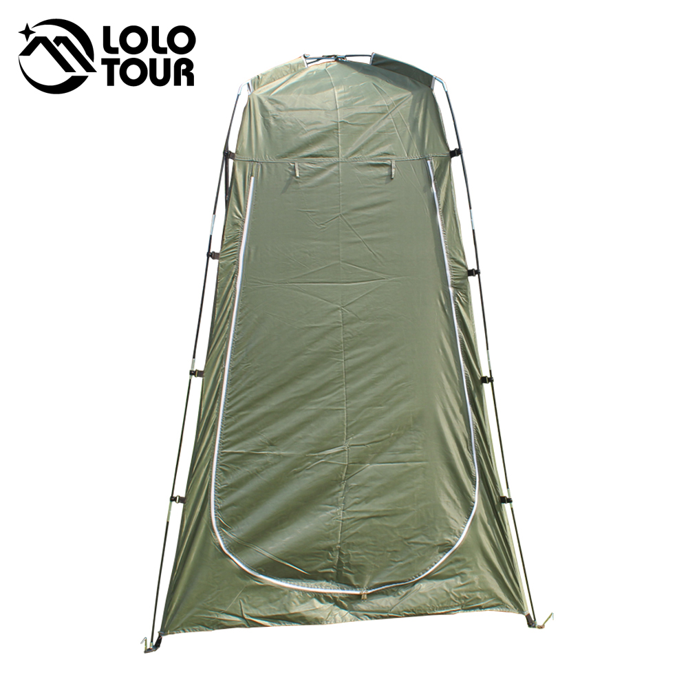Lightweight Portable Camping Shower tent awning canvas folding Outdoor Toilet Room Privacy showing Changing clothes tente white(China (Mainland))