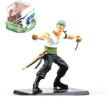 Japan Anime One Piece One Piece Roronoa Zoro Battle Scene Sword PVC Figureine Action Figure Vivid Model Toy In Box