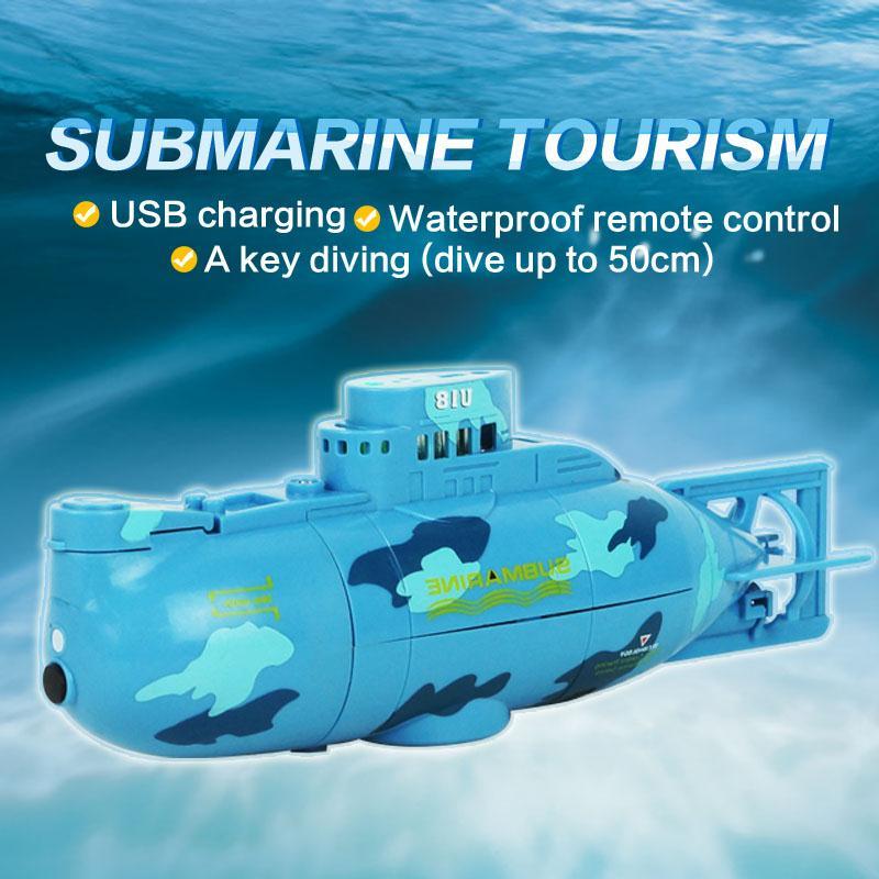 6CH High Speed Radio Remote Control Electric Mini RC Submarine Children Toy