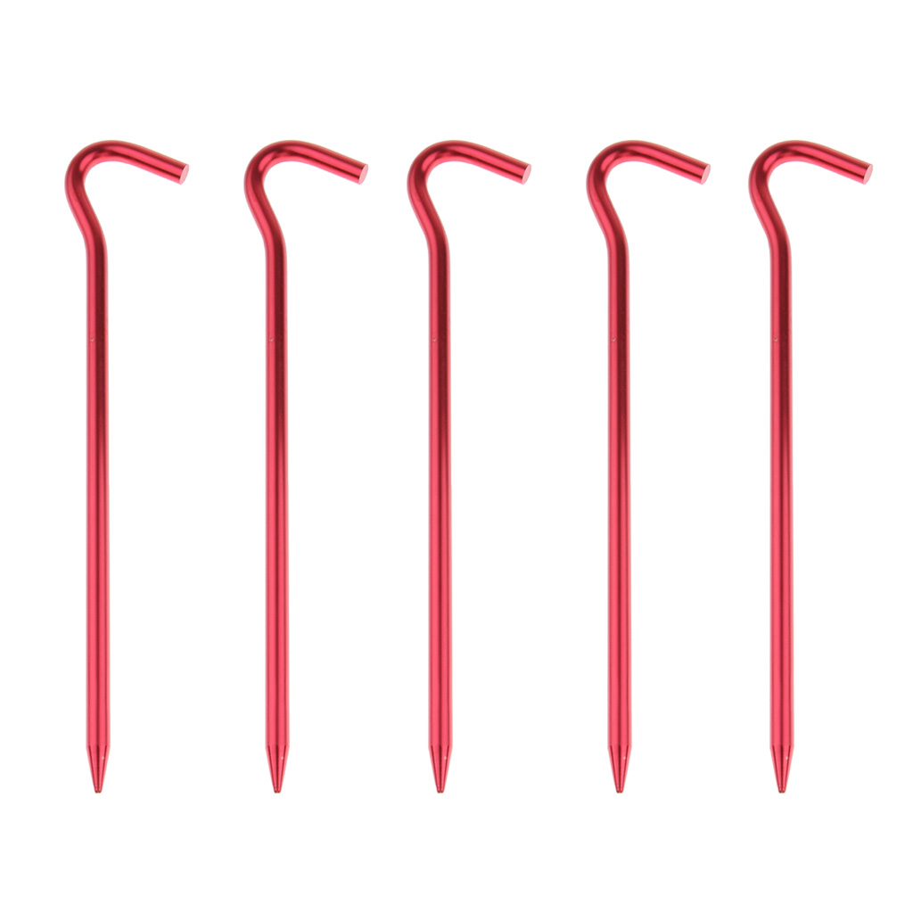 5pcs Aluminum Tent Stakes Pegs Ground Nails For Camping Awning 18cm Backpacking Fishing Garden Camp Tent Accessories