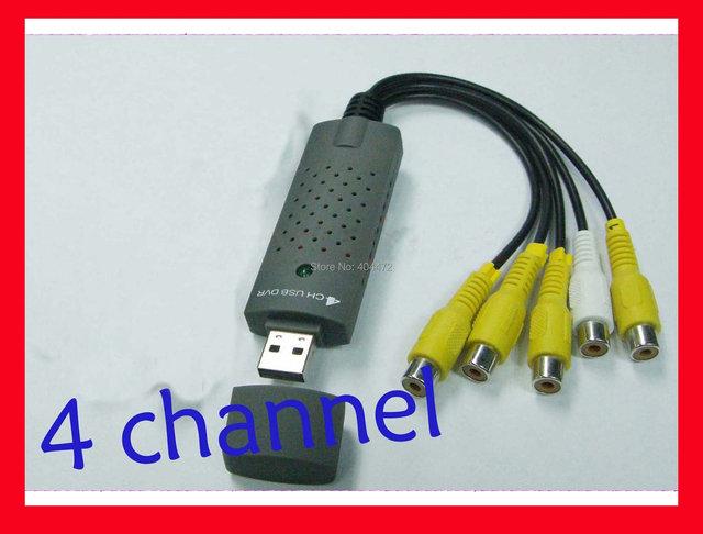 20pcs/lot 4CH USB DVR CCTV Digital Security Camera Video capture adapter for win 7&vista