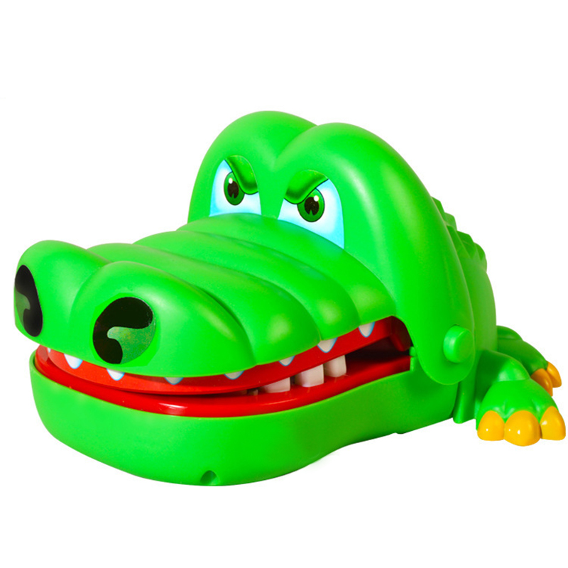 Practical Jokes Crocodile Mouth Dentist Bite Finger Game Joke Fun Funny Crocodile Toy Antistress Gift Kids Child Family Prank(China (Mainland))