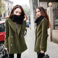 Women Winter Cashmere Coat 2016 New Wool Blends Elegant Office Lady Outside Thicken Clothing Europe Woolen