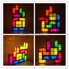 So popular!Safely!New arrive DIY interesting Tetris with LED lamp for your kids,Valentine gift,baby toys,Learning and Education(China (Mainland))