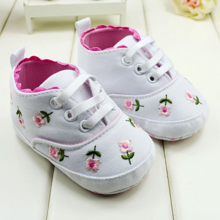Embroidered Lace Baby Infant Shoes Kid Girl Toddler Soft Bottom Shoes