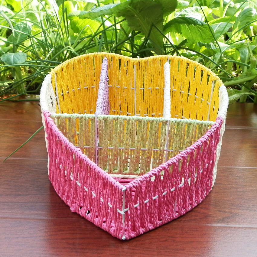 Handmade Basket Paper : Aliexpress buy handmade paper string knitted
