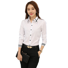 Elegant Slim Thin White Chiffon Women Blouses Striped Long Sleeve Casual Women Shirt 5XL Plus Size Office Women Clothing Blousa