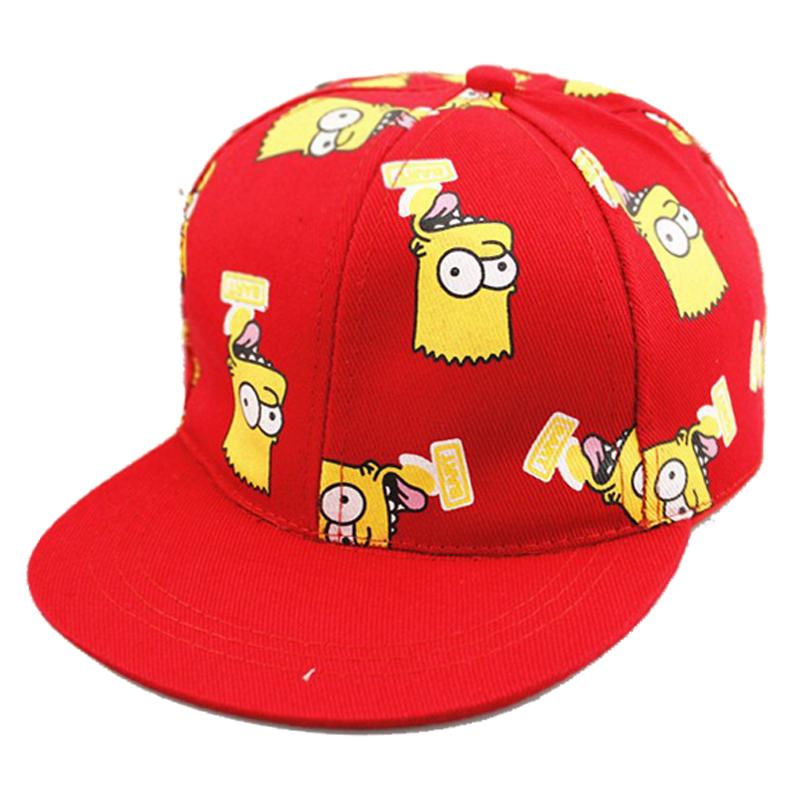 Fashion Children's Caps New Baseball Cap Cute Cartoon Simpson With Casual Flat Along Kid Hip-hop Hats For Boys Girls Unisex(China (Mainland))