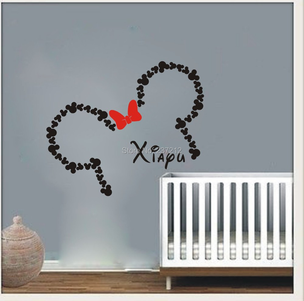 custom vinyl wall decals wall decal vinyl sticker decals art decor design custom baby name head