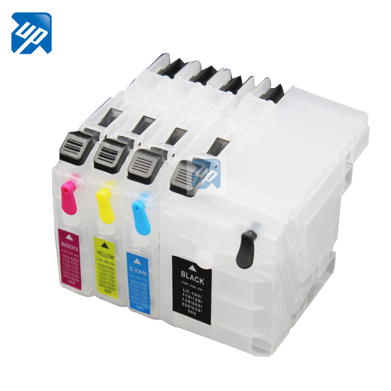 refillable ink cartridgefor Brother DCP-J100 DCP-J105 MFC-J200 J100 J105 J200 LC569/539/529/139/129/119/109 - printer consumables r store