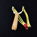 Pocket slingshot hunting bow aluminum alloy sling shot Wood grain camouflage Catapult powerful rubber band slingshot